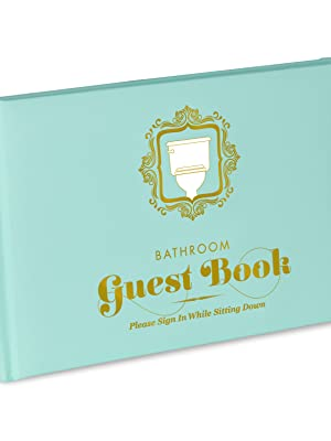 Knock Knock Bathroom Guest Book - Sign in While Sitting Down