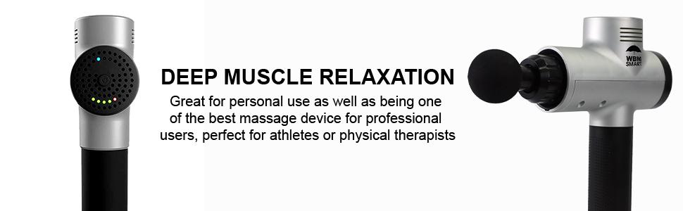 massage gun; wbm massage gun; wbm smart massage gun; percussion massage gun; deep tissue massage gun