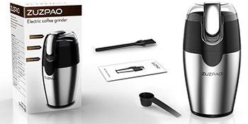 Zuzpao Molinillo de Café Eléctrico Semillas Especias Frutos Secos Molinos de Cuchillas Acero Inoxidable de 200W Potencia Muele Rápido Viene, Capacidad ...