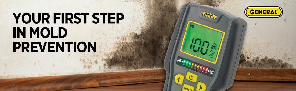 moisture meter, pinless moisture meter, moisture detection, general tools