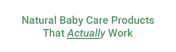 natural baby care, healthy baby care