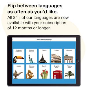 Flip between languages