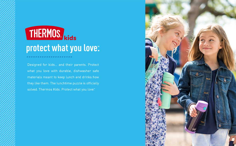 Thermos: protect what you love, straw drink container