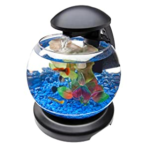 Tetra waterfall globe kit 1 8 gallons for Filtre aquarium rond