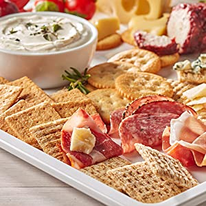 Triscuit and Wheat Thins Cracker Appetizer