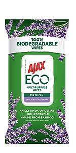 Ajax Eco Lavender & Rosemary 110 Wipes