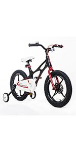 Royalbaby, Space Shuttle, kids bike, bicycle, training wheels, kickstand