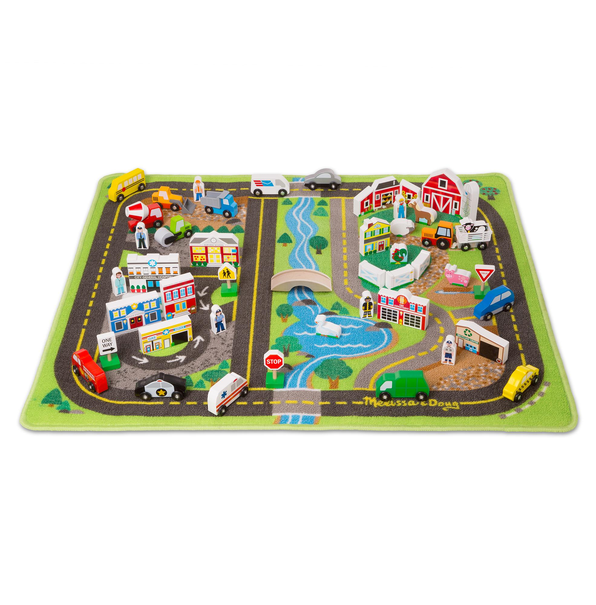 rug co amazon road uk home dp map playmat kids kitchen