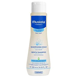 Mustela Gentle Shampoo, daily baby shampoo for delicate hair and scalps, cleans and detangles