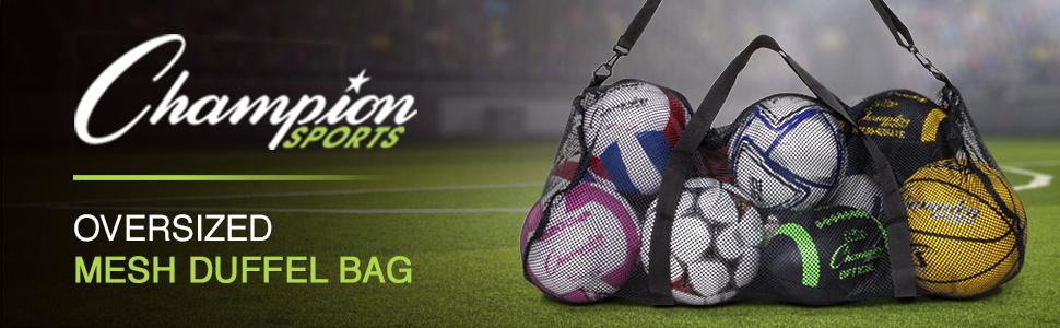 Champion Sports Oversized Mesh Duffel Bag