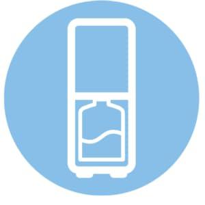 Easy to Change bottle bottom loading design,Midea Water dispenser, Bottom loading water dispenser