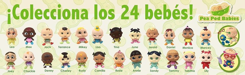 Pea Pod Babies CIFE 41800 - Muñecos bebé con accesorios, Multicolor, Talla única