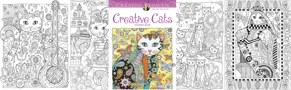 Amazon Com Creative Haven Creative Cats Coloring Book Adult Coloring 9780486789644 Sarnat Marjorie Books