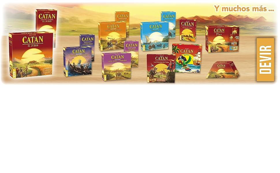 Devir- Ampliacion de 5 y 6 Jugadores para Ciudades y Caballeros de Catan, Miscelanea (BGCIU56): Amazon.es: Juguetes y juegos