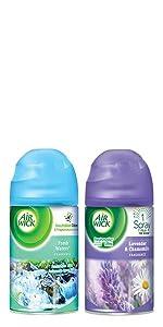 Room air freshener freshner plug ins plugins freshmatic dispenser refills air wick airwick automatic