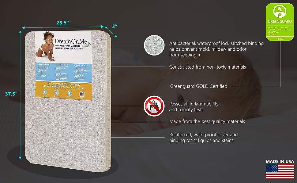 Mattress mattress for baby mattress for infants dream on mattress for baby pack and play mattress