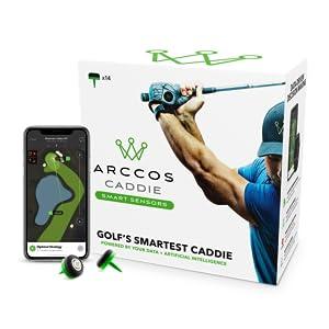 Arccos arcos caddie sensors tracker smart distance gps rangefinder analytics stats