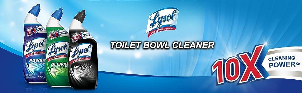 Amazon Com Lysol Power Toilet Bowl Cleaner 72oz 3x24oz