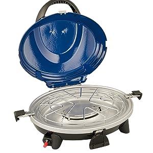 Campingaz 2000008369 Barbacoa portátil, 3in1 Grill Gasgrill mit Deckel, Azul