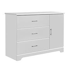 Amazon Com Storkcraft Brookside 3 Drawer Combo Dresser White Kids Bedroom Dresser With 3 Drawers 2 Shelves Wood Composite Construction Ideal For Nursery Toddlers Room Kids Room Baby