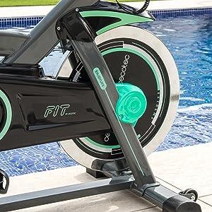 Cecotec Bicicleta Indoor Extreme 20. 20kg Volante inercia, Puls ...
