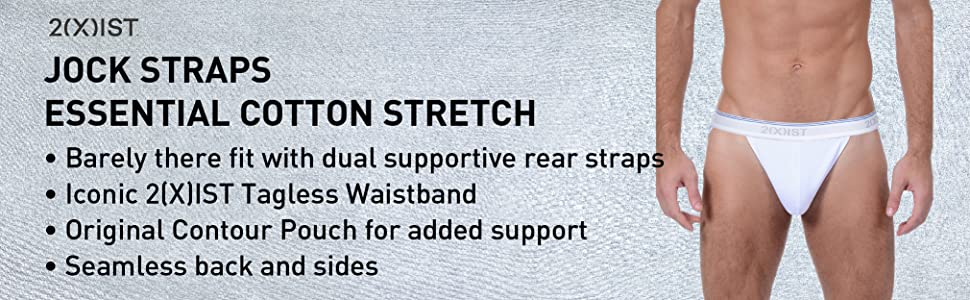 7c512fb868ad 2(X)IST Men's Cotton Stretch Jock Strap Multipack at Amazon Men's ...