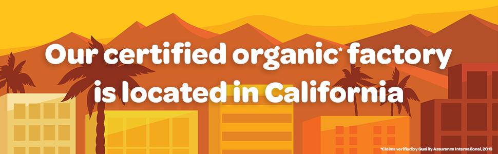 Certified Organic, Organic Factory in Southern California
