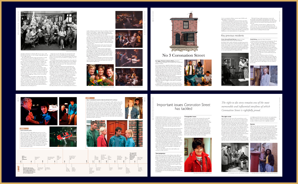 coronation street corrie 60 years anniversary soap opera itv ken barlow compendium anthology