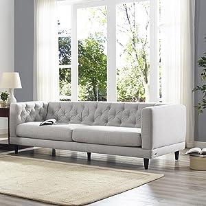 Sofa Natuzzi | Amazon Com Natuzzi Editions Zeno Light Grey Linen Stationary Sofa