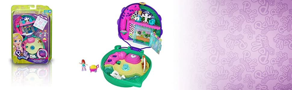 Polly Pocket Cofre Jardín de Mariquitas con muñecas y accesorios, juguete +4 años (Mattel GKJ48): Amazon.es: Juguetes y juegos