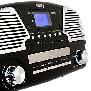 Camry Gramofon Camry CR 1134 Black: Amazon.es: Electrónica
