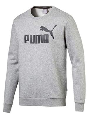 Puma ESS Logo Crew Sweat TR big logo casual pullover for men