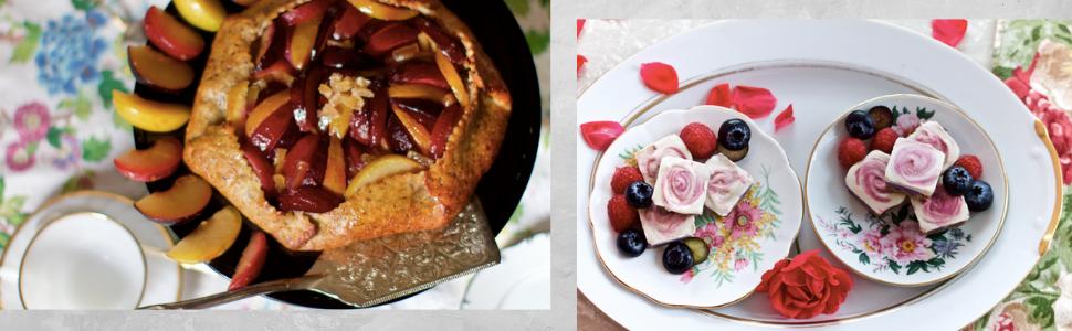 glazed apple pastry berry rose desserts