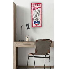 Southern Methodist Mustangs Vintage Player Sign