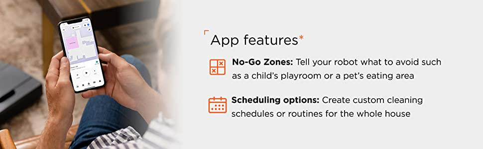 app features, myneato, neato app, software updates, software features, robot vacuum, neato, d8, zone