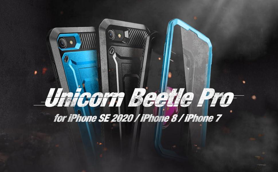 SUPCASE Unicorn Beetle Pro Case for iPhone SE 2020 iPhone 7 iPhone 8 Full-Body Rugged Holster