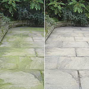 Cleaning paved areas, patios, paths, driveways and walls