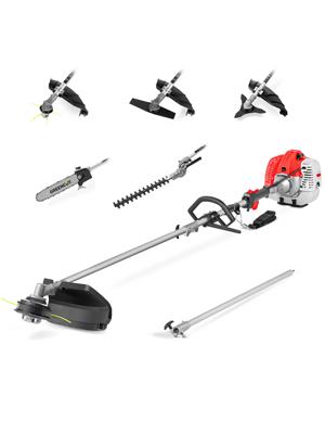 GREENCUT GM650X-6 - Herramienta multifunción 6 en 1 de gasolina de 65cc, 6 accesorios, función desbrozadora + podadora + cortasetos: Amazon.es: Bricolaje y herramientas