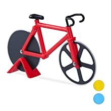 Compra Relaxdays Cortador de Pizza Bicicleta, Acero Inoxidable y ...