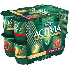 Dannon Activia Lowfat Yogurt Strawberry Amp Peach Variety