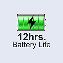 Long battery life of 12 hours