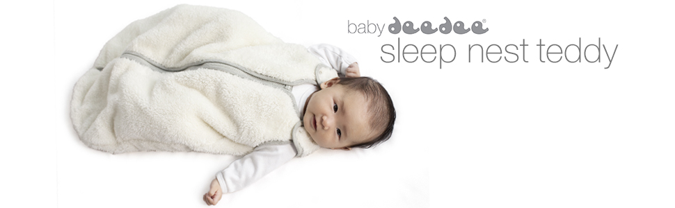 baby deedee sleep nest teddy cosy winter wearable sleeping bag sack
