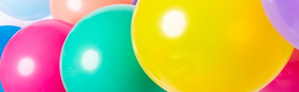 Latexballons, luftballons, Mehrfarbig, Gelb, Pink, Blau, ballon, ballons