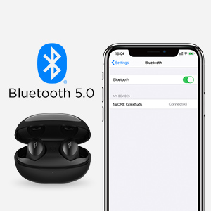Bluetooth 5.0 True Wireless Earbuds with Charging Case