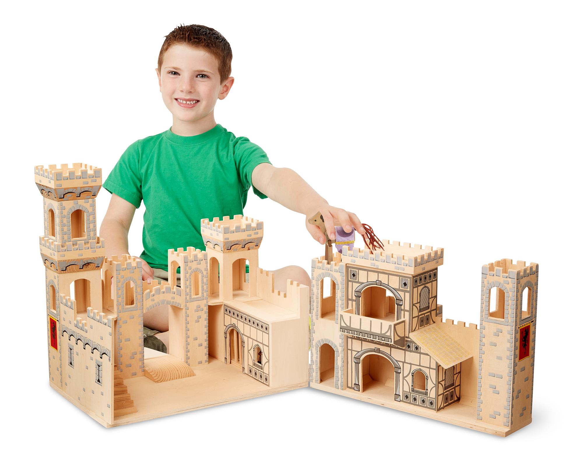 Toy Castles For Boys : Amazon melissa doug folding medieval wooden castle