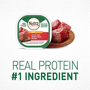 Real Protein is the first ingredient, High Proein, Natural Dog Food, Real Meat