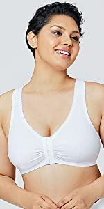 1908 Off Duty Front-Close T-Back Comfort Bra