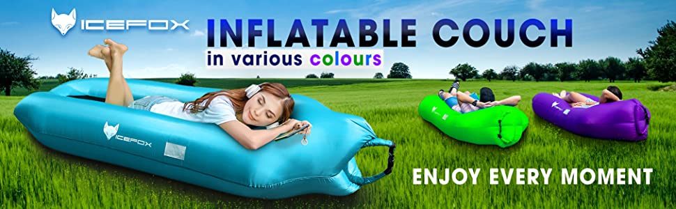 Inflatable Couch for Travelling, Camping, Hiking, Pool and Beach, Lakeside, Picnics, Music Festivals
