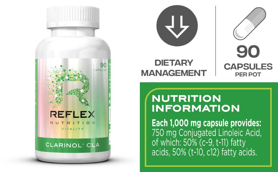 Reflex Nutrition Suplemento Cla De Ácido Linoleico Conjugado ...