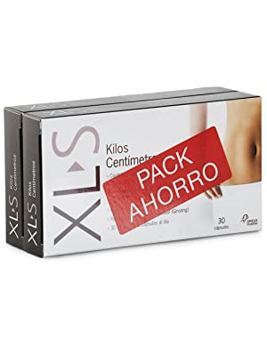 XL-S Kilos Centímetros Captagrasas Adelgazante, Tratamiento para Perder Peso, Reductor de Apetito con Guaraná y Ginseng - Pack Duplo 2 x 30 ...